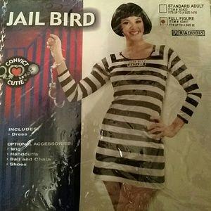 Dresses & Skirts - Jail Bird Dress Convict Prisoner costume